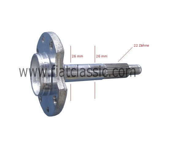 Wheel bearing axle (2x26 mm) Fiat 126 - Fiat 500 Giardiniera - Fiat 600