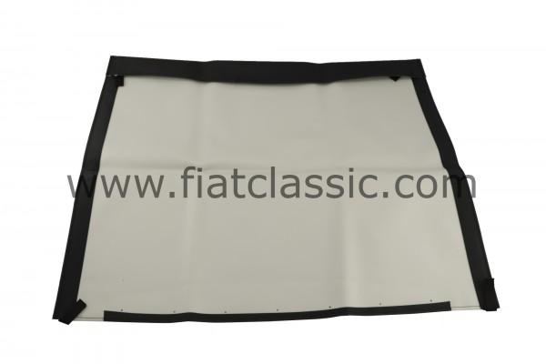 Folding roof cloth black Fiat 500 F/L/R