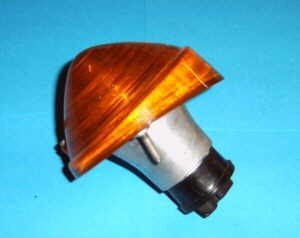 Blinker vorne orange Aluminium-Sockel Fiat 500 - Fiat 600