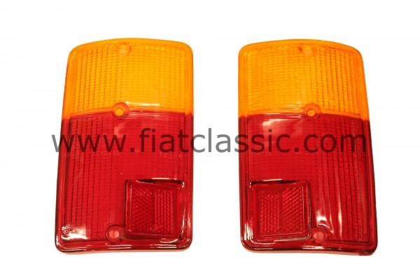 Lenti per fanali posteriori (coppia) Fiat 126 (1a e 2a serie)
