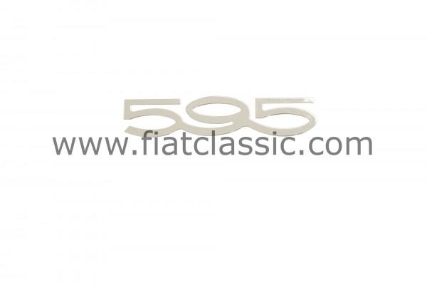 Emblema 595 115x24mm Fiat 500