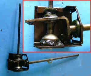 Complete shift linkage Fiat 126 - Fiat 500
