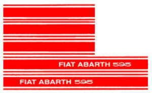 Vehicle sticker ABARTH 595 Fiat 500