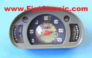 Snelheidsmeter gebruikt donkergrijs Fiat 600