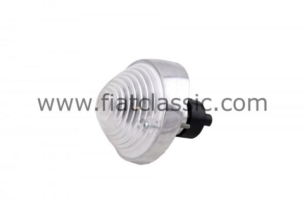 Turn signal front white aluminium base Fiat 500 N/D - Fiat 600