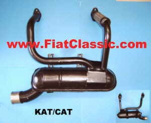Sportauspuff 500/126 KAT Fiat 500