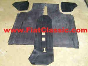 Jeu de tapis en caoutchouc (sol plat) Fiat 500 N