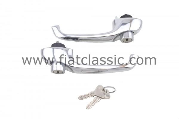 Deurklink met cilinderslot (paar) Fiat 500 F/L/R