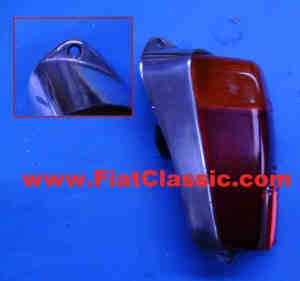 Taillight aluminium left Fiat 500 - Fiat 600