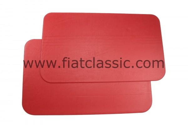 Panneau de porte rouge (paire) Fiat 500 F