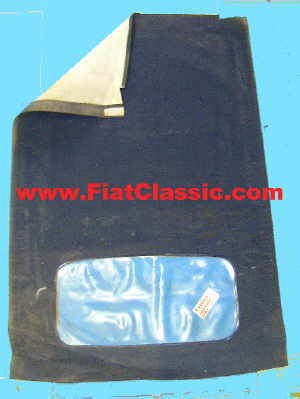 Folding roof cloth Trasformabile blue Fiat 500 Bianchina
