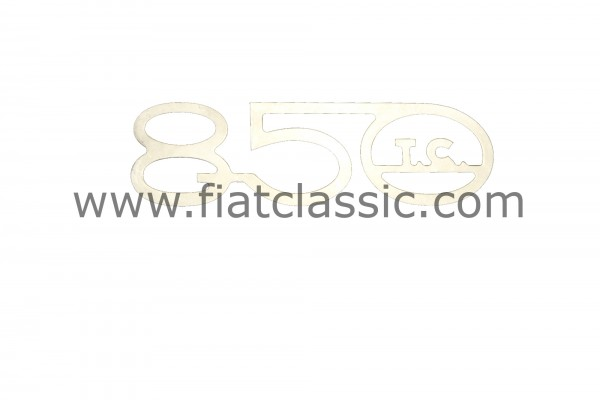 Embleem 850 TC 150x45 mm Fiat 600