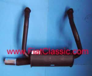 Sport Exhaust Oval Monotube Fiat 126 - Fiat 500 R