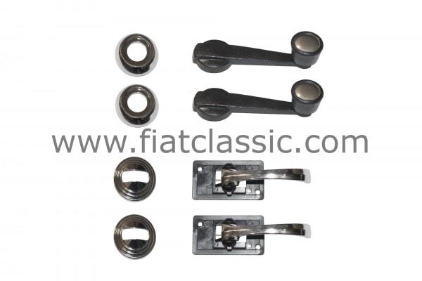 "Door set ""Chrome"" Fiat 126 - Fiat 500"