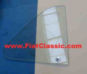 Opening window glass right with holder Fiat 500