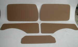 Set door panels ochre Fiat 500 Giardiniera