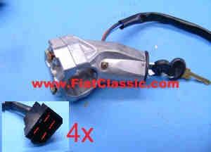 Blocco dello sterzo ad accensione per avviamento magnetico Fiat 126