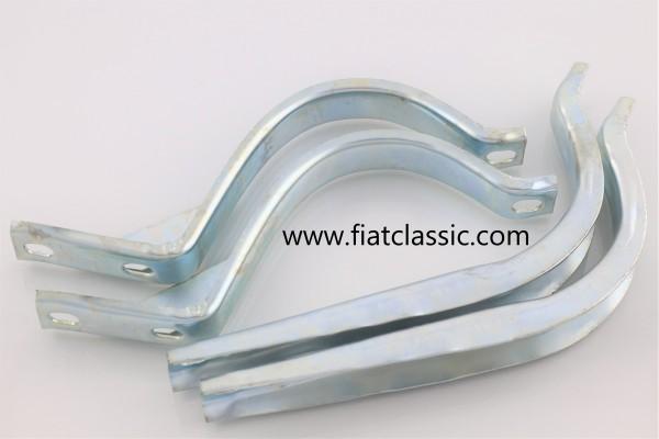 Set exhaust clamps Fiat 126 - Fiat 500 R