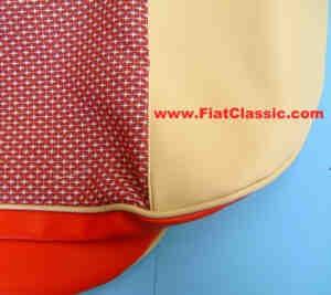 Coprisedili Fiat 600 rosso/beige