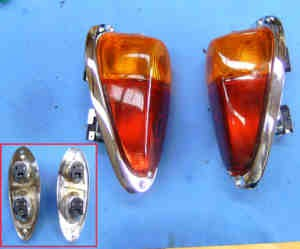 Rear lights in chrome (in pairs) Fiat 500 N