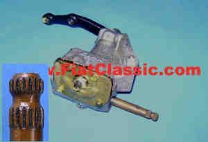 Stuurinrichting linksgestuurde besturing (vervangingsdeel) Fiat 126 (1ste en 2de serie)