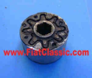 Silentblock/RuckdàÂ¤mpfer arbre d'essieu 6 dents, d=75mm Fiat 500 D/F/Giardiniera - Fiat 600