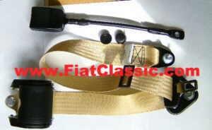 Ceinture de sécurité automatique 3 points en Fiat 500 beige - Fiat 126 (1ère série) - Fiat 600