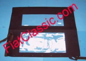 Folding roof cloth with 2 windows dark blue Fiat 500 D/F/L/R