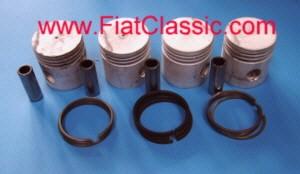 Satz Kolben 600 II. 62 mm inkl. Ringe und Bolzen Fiat 600