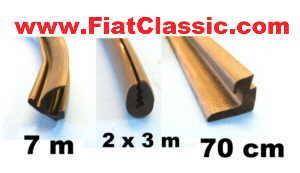 Set of door rubbers front/rear Fiat 600 Multipla, Fiat 850/1000, Zastava 750