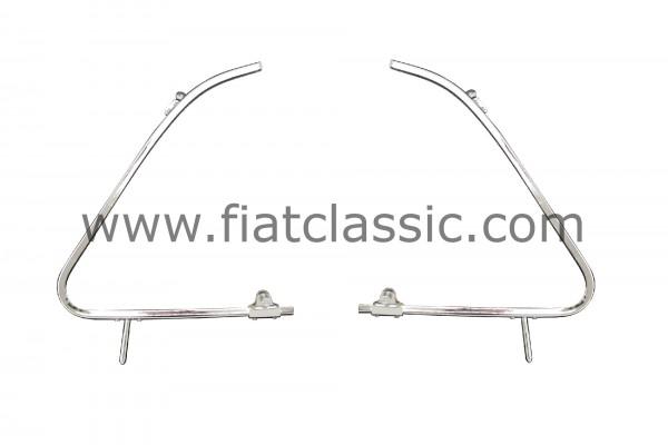 Ausstellfenster-Rahmen Paar, mit Knebelhalter Fiat 500 Top-Qualität