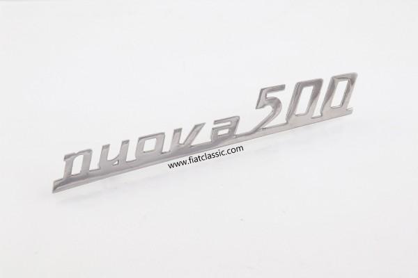 Rear emblem NUOVA metal Fiat 500 N/D