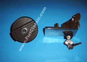 Serratura del portellone posteriore con tappo del serbatoio Fiat 126 (1a e 2a serie)