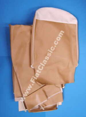 Seat covers ochre/white front and rear Fiat 500 F/L