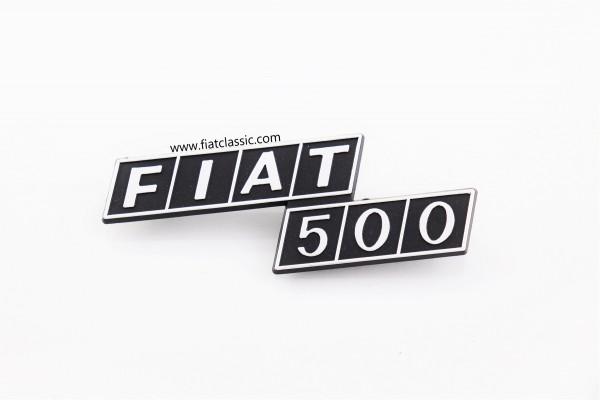 Rear emblem Fiat 500 F