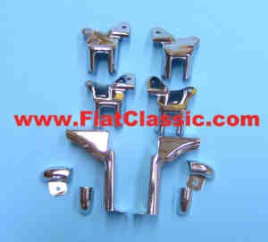 Set of door fittings Cabriolet Fiat 500 Bianchina